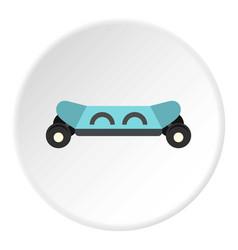 Skateboard electric smart icon circle vector