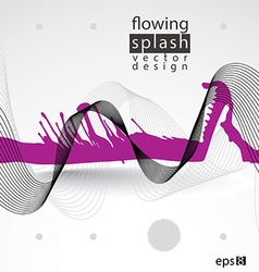 Splattered web design element art ink blob bright vector