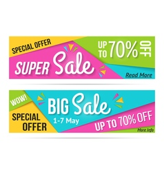 Super Sale and Big Sale Banners vector image