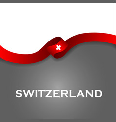 Switzerland sport style flag ribbon classic style vector