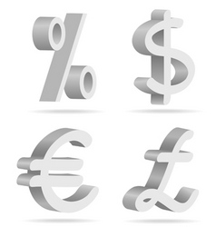 symbols of money vector image