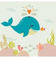 Undersea love vector image