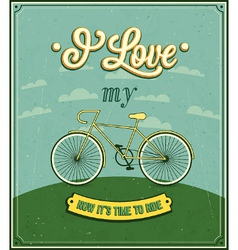 Vintage background with bicycle vector