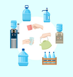 water infographic collection vector image