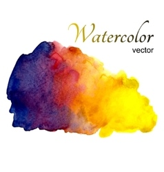 Watercolor stains on white background vector