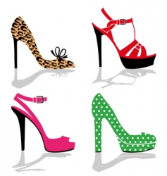 women shoes collection vector image