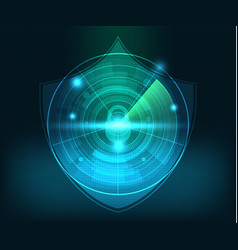 abstract technology network security background vector image vector image