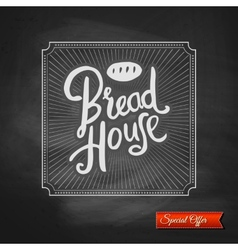 Bread House special offer sign vector image vector image
