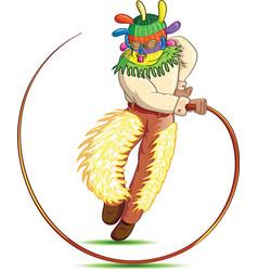 Cartoon man with whip vector
