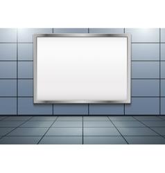 Mockup billboard inside metro or subway vector image vector image