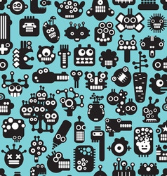 Seamless Various Faces pattern vector image