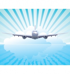 aircraft in the sky vector image vector image