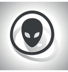 Alien sign sticker curved vector image vector image