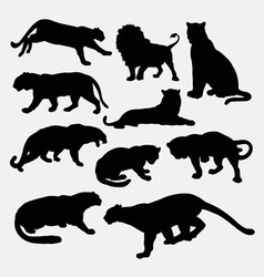 Cheetah panther leopard lion silhoutte vector image vector image