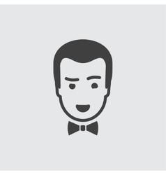Croupier icon vector image