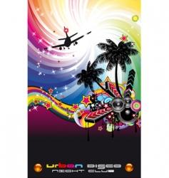 disco flyer Latin style vector image