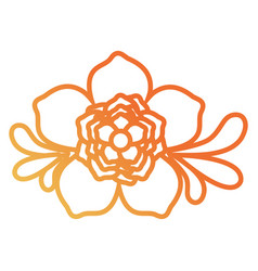 flower with leaves desi vector image vector image