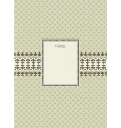 seamless pattern and ornamental frame vector image vector image