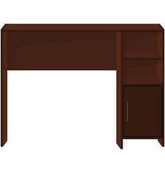 Wooden office desk vector image vector image