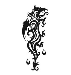 abstract trible dragon vector image