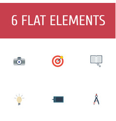flat icons gadget concept arrow and other vector image vector image
