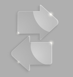 Glass arrows icons vector image