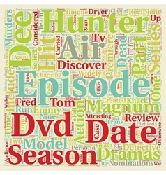 Hunter Season DVD Review text background wordcloud vector image vector image