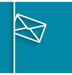mail blue background vector image