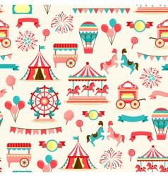 Seamless pattern - vintage carnival vector