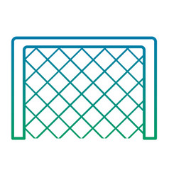 soccer goal grid equipment icon vector image vector image