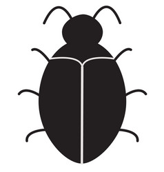 bug software bug icon on white background vector image