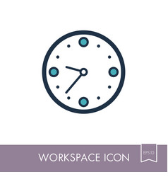 clock outline icon workspace sign vector image vector image