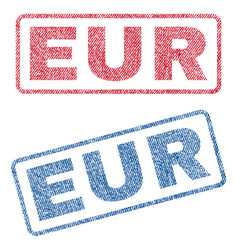 Eur textile stamps vector