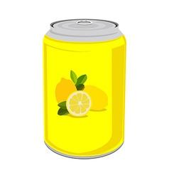 Lemon drink vector image vector image