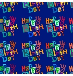 Ornament of the words birthday vector image