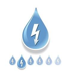 Water energy vector image vector image