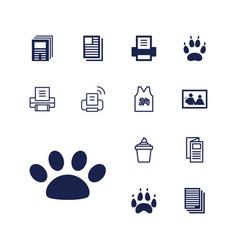 13 print icons vector