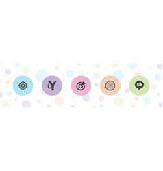 5 aim icons vector