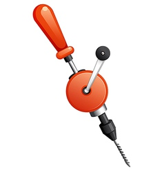 A hand drill vector image