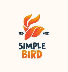 abstract bird logo design template vector image