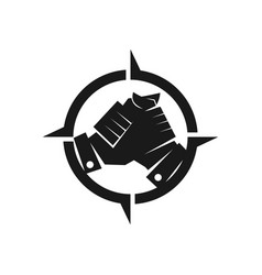 Adventure commitment teamwork together black logo vector