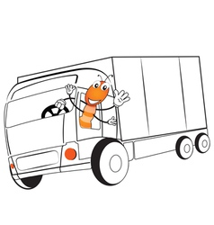 Ant drive a truck vector