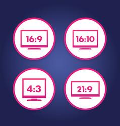 aspect ratio icons vector image