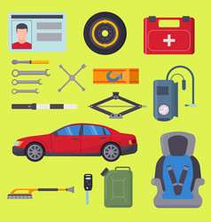 auto transport motorist equipment vector image