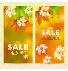 Autumn sale 2 vertical banners vector
