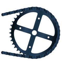 Bicycle gear and chain vector