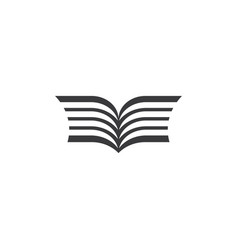 book symbol sign element vector image