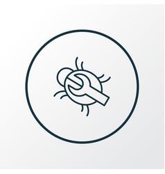 bug fixing icon line symbol premium quality vector image