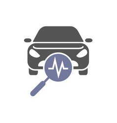 Car diagnostics icon auto service vector