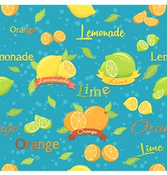 Citrus Seamless Pattern Blue vector image